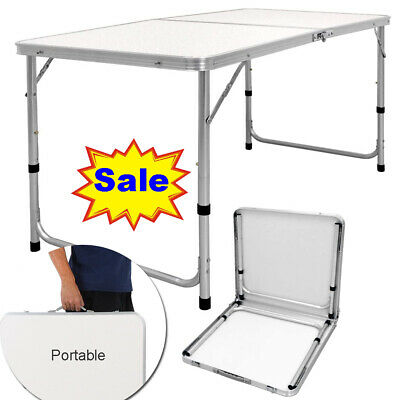 Aluminum Portable Adjustable Folding Table Camping Outdoor Picnic Party 4FT TOP