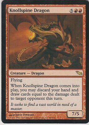 MTG Shadowmoor Knollspine Dragon X1 NM