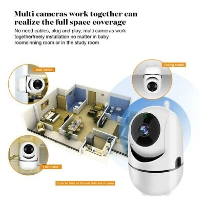 Wireless WIFI IP Camera HD 720P Home Smart Night Vision Pan Tilt Security Audio