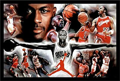 FRAMED Michael Jordan - Collage Open Arms 36x24 Sports Poster