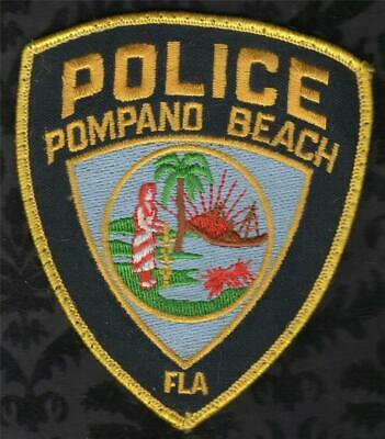 Pompano Beach Police Patch New Old Stock