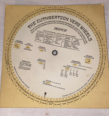 French 1933 Vintage Cuthbertson Verb Wheel