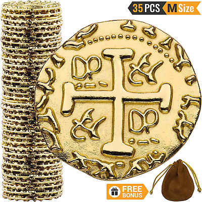Fantasy Me 50 Gold Spanish Doubloon Replicas Beverly Oaks Metal Pirate Coins