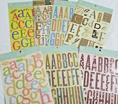 KEEPING MEMORIES ALIVE//KMA-Cardstock Alphabet Stickers-Letter Tags-#88000