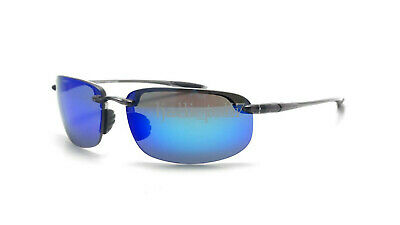 New Maui Jim B407-11 Ho'okipa-Grey Frame- Blue Hawaii Polarized Lenses Hookipa