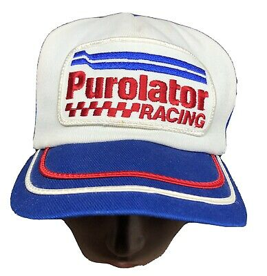 Vintage Purolator Racing 3 Stripe Snap Back Trucker Hat, Made in U.S.A.