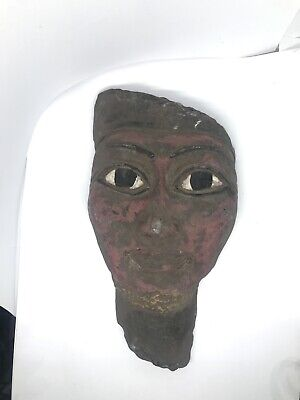 Ancient egyptian stone sargophagus mummy mask