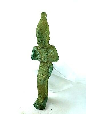 Osiris Bronze Statue Egyptian Antiques Ancient Amulet Sculpture RARE Antiquities