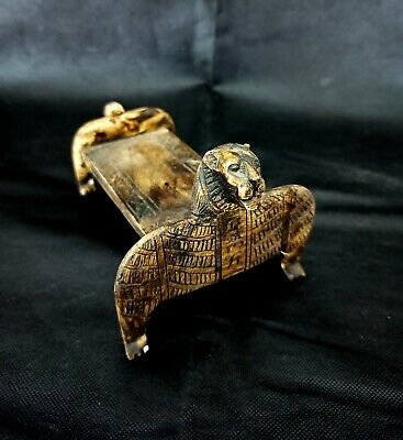 Royal Sekhmet Funerary bed from the Tomb of Tutankhamun Egyptian Antique Craft