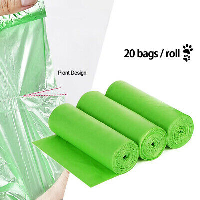 Dog/Cat Poo Bags Biodegradable Large & Strong Waste Eco Friendly 20pcs / 1 Roll