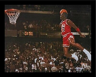 FRAMED Michael Jordan - Foul Line Dunk 20x16 Sports Art Print Poster