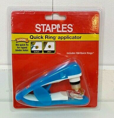 3 Hole Ring New Sealed Staples Quick Ring Applicator Refills Refill Pack 400 ct