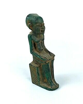Ancient Egyptian Stone statue of Imhotep, c. 600-30 BCE. Rare Egypt Antiques