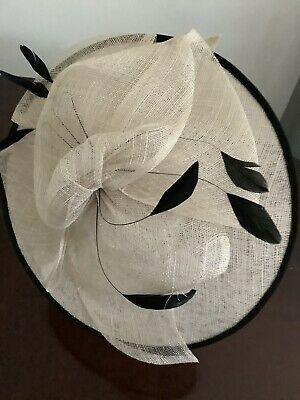 Navy Oversize Sinamay Hatinator Fascinator Fascinators Wedding Guest Races