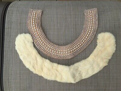 Vintage Lot of Collars Faux Pearls and Fur 40's 50's LOOK