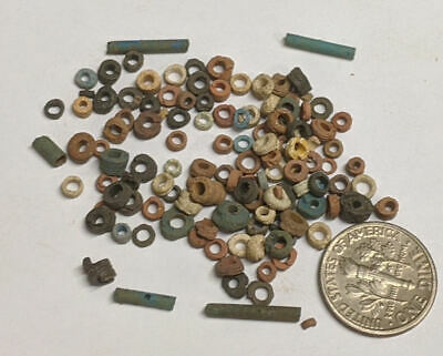 More than a Hundred 2500 Year old Ancient Egyptian Faience Mummy Beads (#M1124)