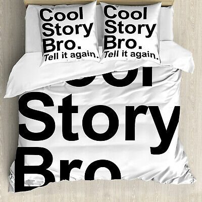 Cool Story Bro Cushion Cover Linen White 40cm Funny Toy Story Gift