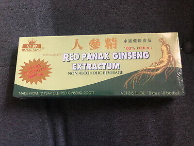 Panax Ginseng GREEN Extract 6000mg  (10 Bottles) 10ml Bottles: (Non-alcoholic)