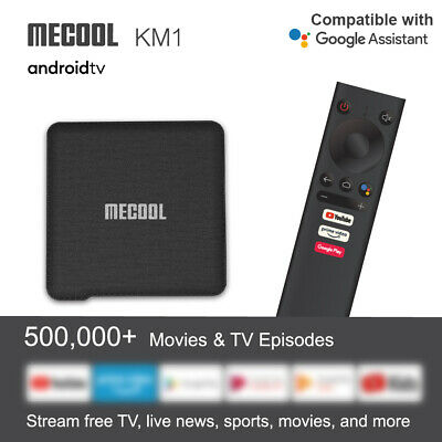 MECOOL KM1 Android 9.0 TV Box 4+32GB S905X3 4K 2.4/5G 2T2R WiFi Multimédia H7B8