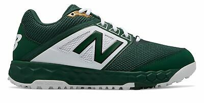 New Balance Low-Cut 3000v4 Turf Baseball Mens Shoes Green with White