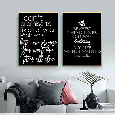 Canvas Poster English Letters Sentences Print Picture Wall Art Modern Home Decor