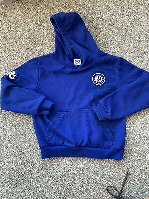 Chelsea Football Club Kids Boys Hoodie Age 8-9 Blue Sweatshirt
