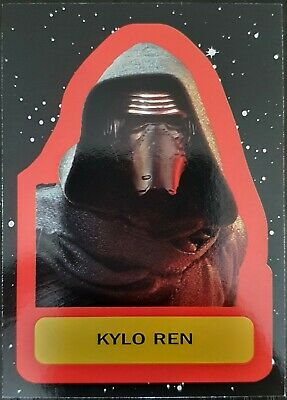 2017 Star Wars Journey to The Last Jedi Character Retro Stickers #1 Kylo Ren