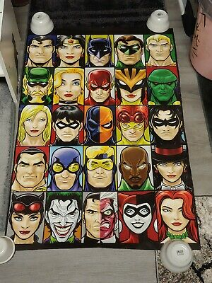 RARE JUSTICE LEAGUE OF AMERICA DC VILLAINS 25 CHARACTER COLLAGE POSTER 24x36