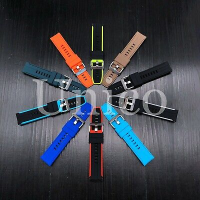 Universal Sports Rubber Watch Straps Replacement Band For 20mm 22mm Smartwatch