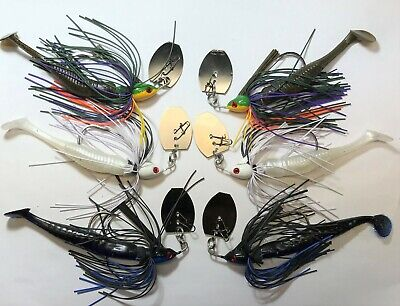 Vibrating Jig  WEEDLESS   Watermelon Red Flash   3//8 /& 3 1//2 w//Trailer