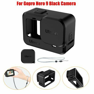 UK Silicone Protective Cover+Lens Cap+Adjustable Hand Lanyard For Gopro Hero 9