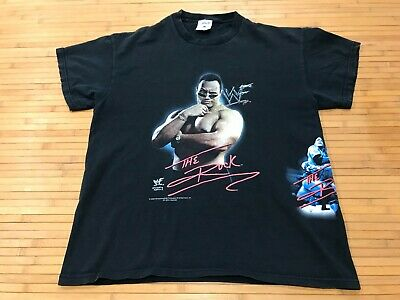 BOYS XL 18/20 - Vtg 2000 WWF The Rock Smack Down Wrestling T-shirt