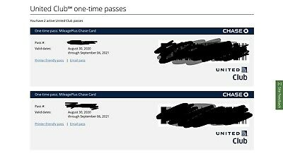 Two United Airlines Club Lounge One-Time Passes Expire September 6th, 2021