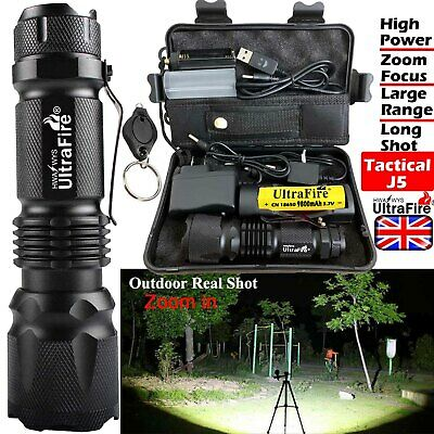 Ultrafire 450000LM Zoomable Tactical T6 LED Flashlight Torch Work Light Headlamp