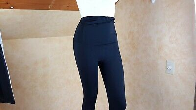 Isabel  Materinity Women's Black Crossover Active  Leggings Size S New