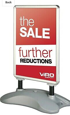 NEW! A1 Waterbase Advertising Pavement Poster Display Sign Frame A-Board Stand
