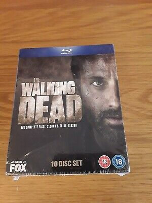 The Walking Dead Complete First Second & Third Season Blu Ray 10-Disc Set sealed