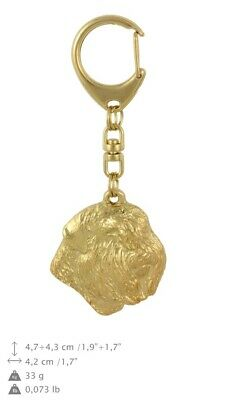 Bouvier des Flandres Golden Plated Key Ring Solid Keychain CA 791