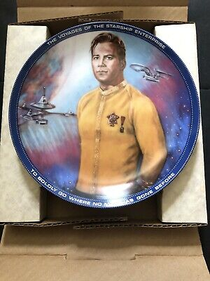 Vintage Hamilton Collection Star Trek 25th Anniversary Plate Captain Kirk No COA