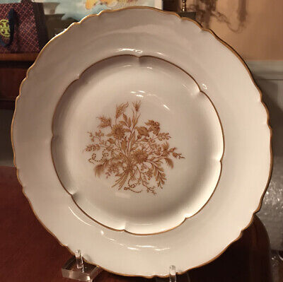 """Haviland Limoges Floreal Dinner Plates 10.5 """" 9 Plates Available"""