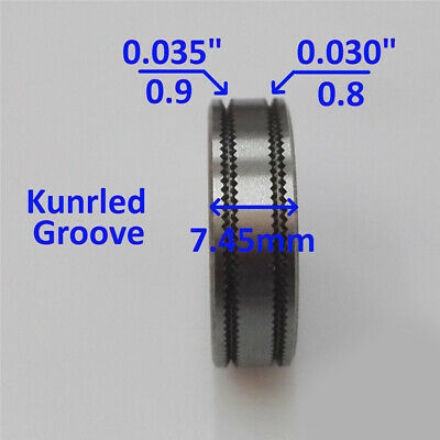 """.035/"""" .030/"""" Forney 78052 Drive Roll Knurled Groove"""