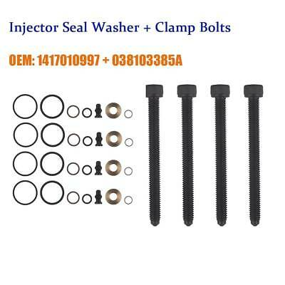 4 x GENUINE BOSCH INJECTOR SEAL KIT BOLTS FOR  PD INJECTOR VW BORA 1.9 TDi
