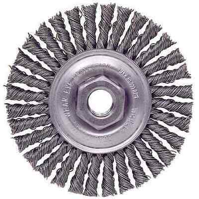 """PFERD 8/"""" Wire Wheel .023/"""" Knot 5//8/"""" Arbor Hole 72 Knotted Stringer Bead Twist"""