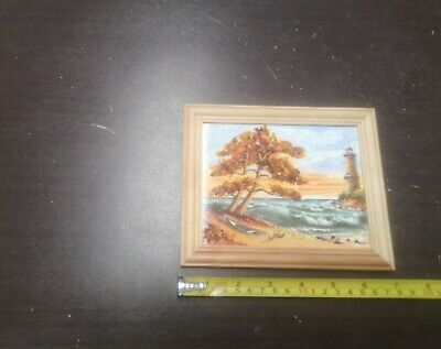 SEA LANDSCAPE from a tree a frame PICTURE with BALTIC AMBER a sea