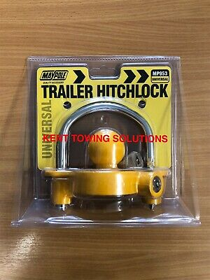 New Universal Trailer Hitch Security Lock Fits 50mm Couplings✅ Maypole✅ MP953✅