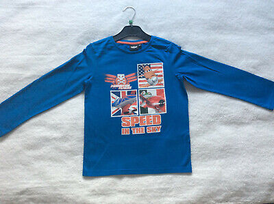 """Age 4 Yrs /& 6 Yrs Disney Planes Boys Long Sleeved Top /""""Speed In The Sky/"""" BNWT"""
