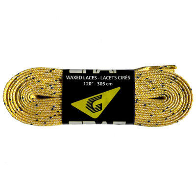 Graf Waxed Hockey Skate Laces 2-Pair Pack White Multiple Sizes *NEW*