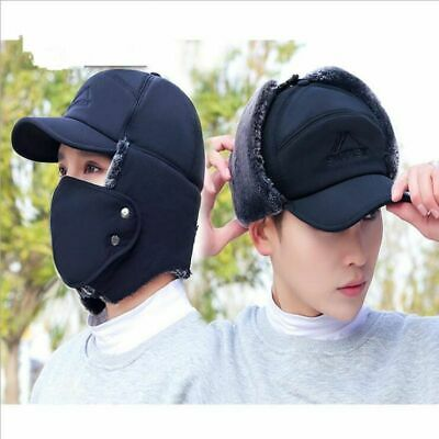 MEN WINTER WARM Hat Thermal Bomber Ear Protection Face Windproof Ushanka - $15.15 | PicClick