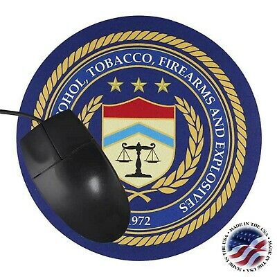 ATF SEAL MOUSE PAD BUREAU OF ALC TOB FIREARMS AND EXPLOSIVES