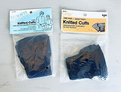 Navy Dritz 55415-3 Adult Knitted Cuff 2-Pack